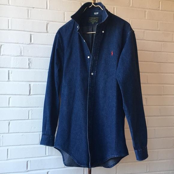 cc91a262b Vintage Polo Country Ralph Lauren Denim Shirt L. M_5c8d724f03087c040b7bea16